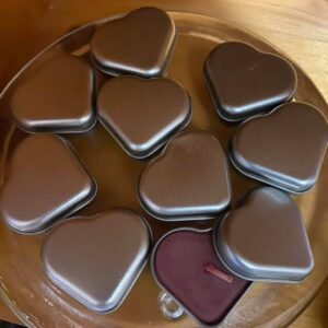 Beeswax Heart Tins